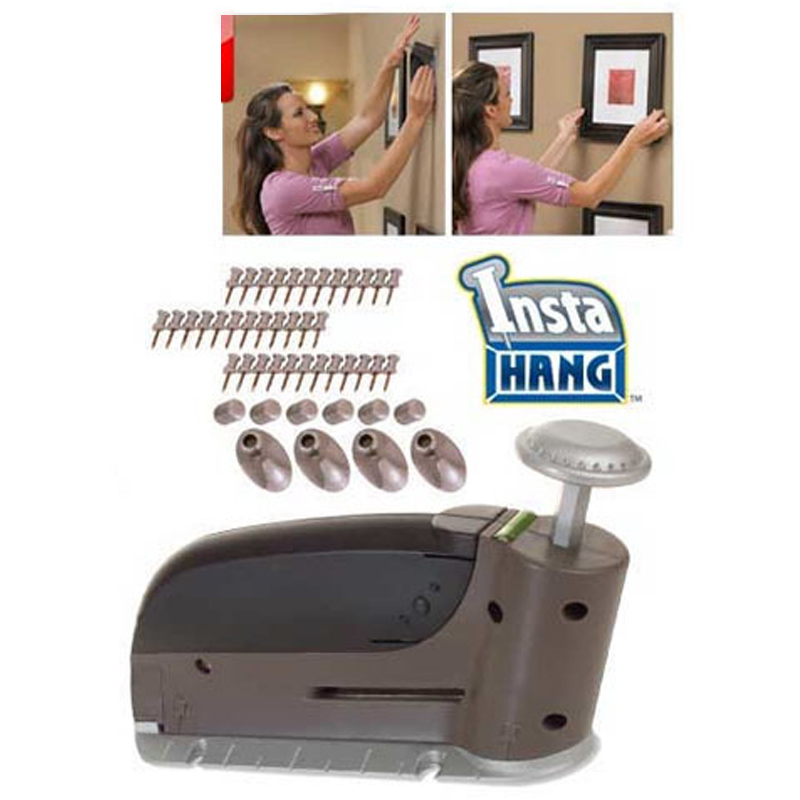 seamless Convenient Wall Stud Nail Picture Wall Hook Hanging Nail Gun As Seen On Tv Hang Anything In Seconds spa массажер as seen on tv sonic