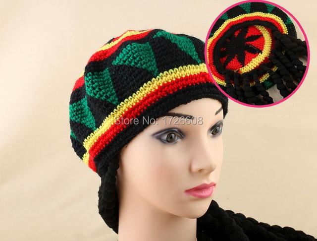 Unisex Jamaican Bob Marley Rasta Beanie Hat With