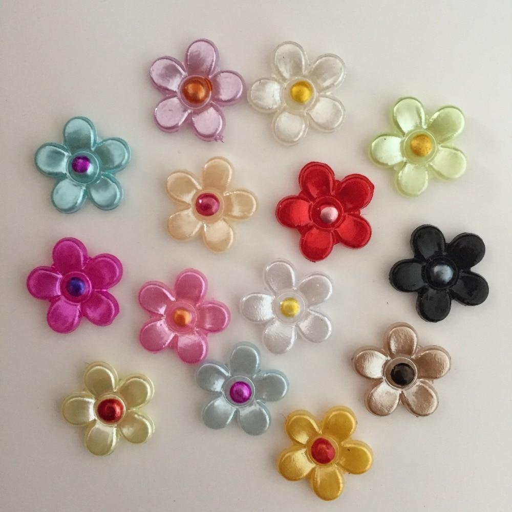 1000pcs 12mm yellow plastic flower flatback Scrapbook/ Craft Flatback Beads DIY B07A*10