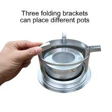Buy Silver HobbyLane Outdoor Camping Stove Liquid Alcohol Stove Portable Solid Liquid Windproof Waterproof Cookware Burner Equipment directly from merchant!