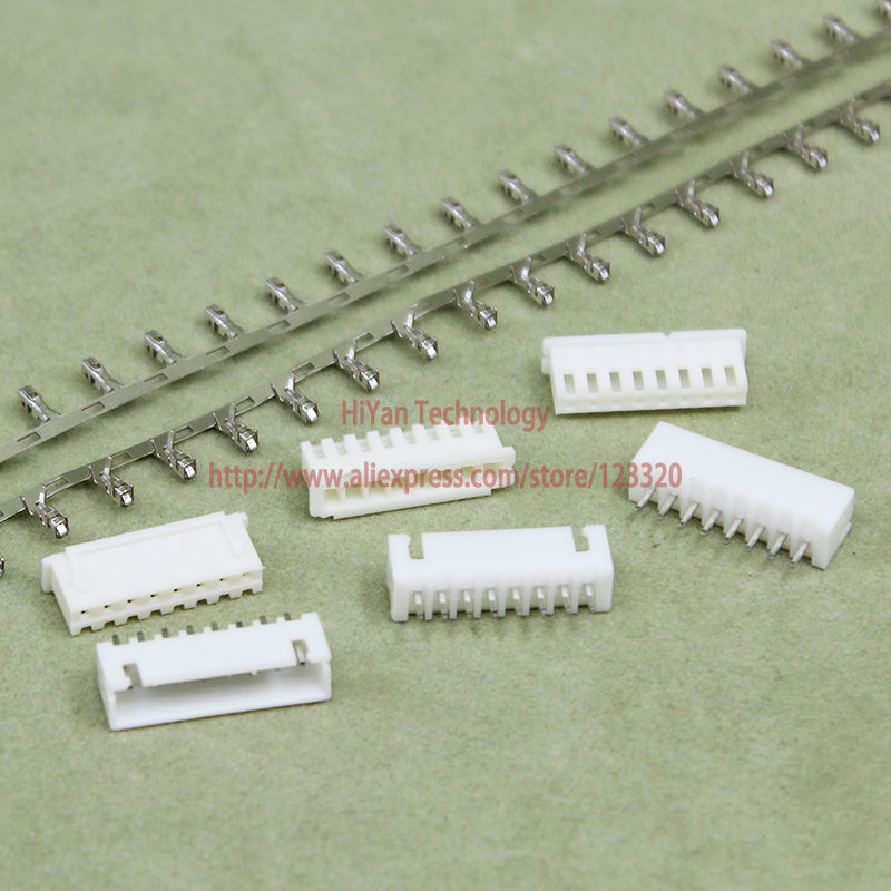 (100sets/lot) Connector XH2.54-8P XH2.54 8Pin 180degrees Pitch:2.54MM/0.1inch Pin Header + Terminal + Housing
