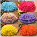 2016 Brand Girls Summer Candy Color Perform Dance Bubble Skirt  Girls Summer Perform Beautiful Girls School Skirt 9 Colors