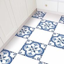 4pcs 30*30cm Portugal Floor Tiles Bathroom Kitchen Home Decor Anti-slip Stickers Diy Wall Stickers Wallpaper Floor Decal Mat