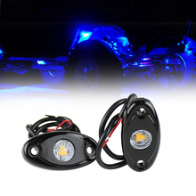 1Pair High Power 9W LED Rock Lights Boat Decoration Lamp for 12V 24V Marine Yacht Off Road Car Jeep Motorcycle