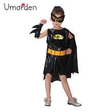 Umorden Purim Carnival Party Halloween Costumes Children Batman Cosplay Kids Bat Man Costume Girls Bat Girl Fancy Dress цена в Москве и Питере
