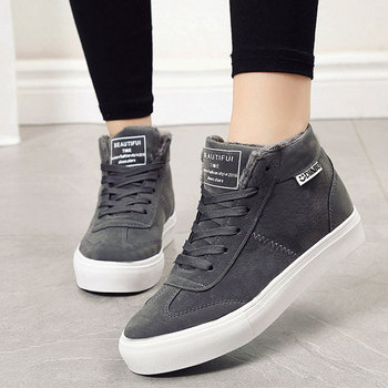 Women Snow Ankle Boots Female Martin Suede Winter boots Plush Warm Sneakers Shoes Zapatos Mujer 695 suede