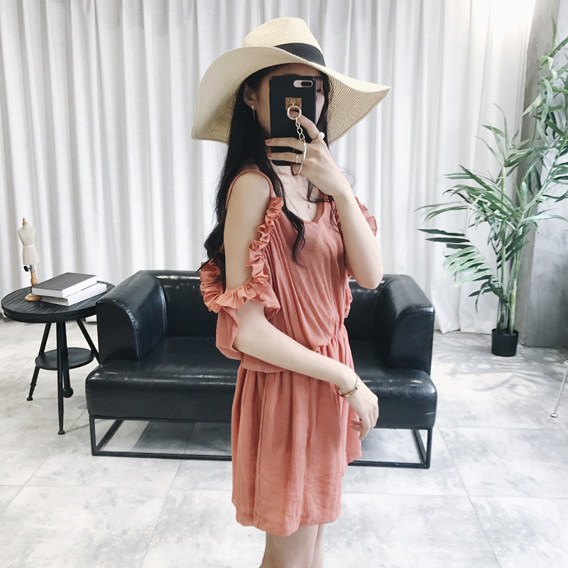 New Arrival Summer Fashion Women Sexy Strapless Top Wide Leg Shorts Solid Chiffon Jumpersuits Female Casual Beach Loose Playsuit