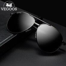 VEGOOS Polarized Aviation Sunglasses for Men 58mm Classic Metal Frame with Mirror Lens Driving Pilot Sun Glasses UV Protect 3075
