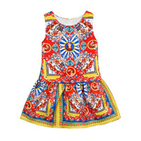 Girls Dress 2016 Summer Princess Dress Girl Brand Designer Character National Style Kid Dresse For Girls