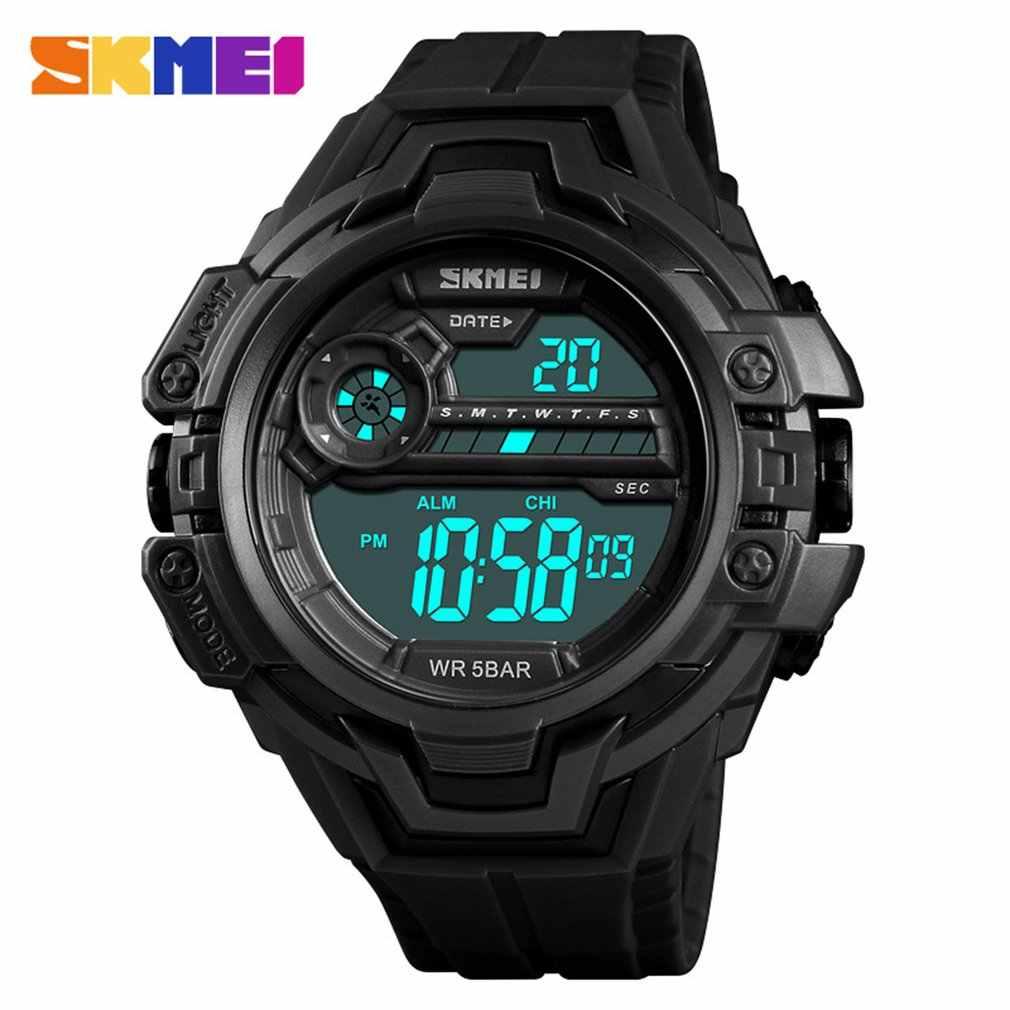 SKMEI אופנה ספורט גברים שעונים 50 m Waterproof משולב LED דיגיטלי שעון עסקי מזדמן שעון יד מודלים Relogio שעונים