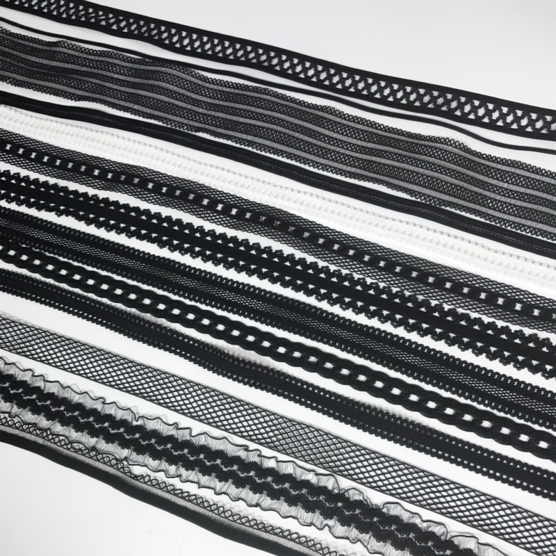 Hot! 5Meters 1.2cm to 4cm Width Black Garment Accessories Lace Material elastic Sewing Lace Trim Ribbon Necklace Wholesale