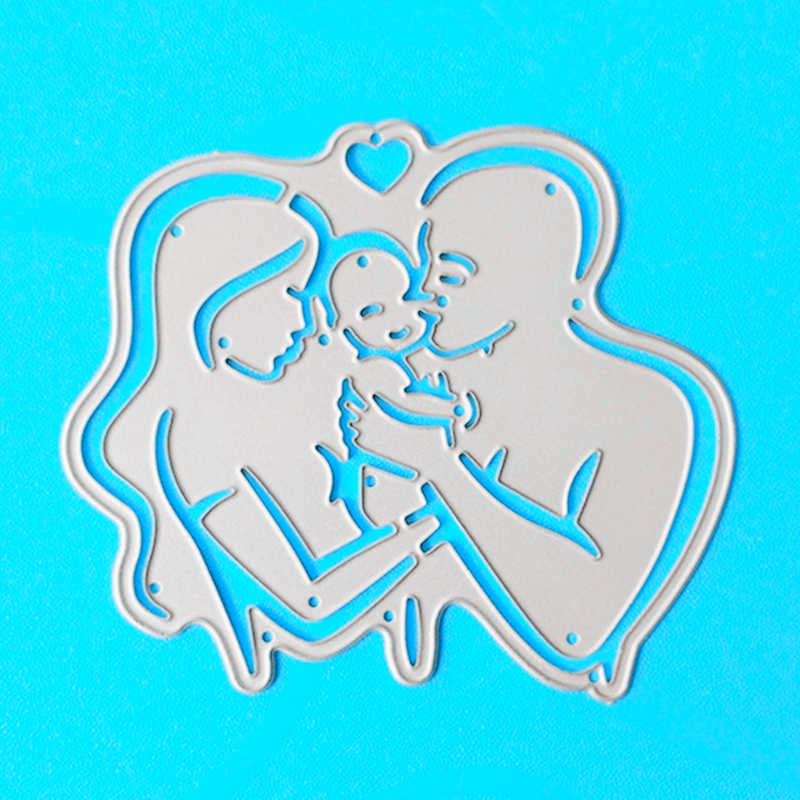 YLCD1019 Family Metal Cutting Dies For Scrapbooking Stencils DIY Album Cards Decoration Embossing Folder Die Cuts Template New