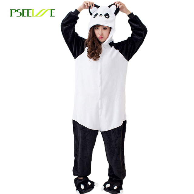 e7ee17b462 Panda Pajama Adult Onesie Animal Pajamas one piece Winter Cotton Pajama  Sets Woman Onesies for Adults Women panda sleepwear