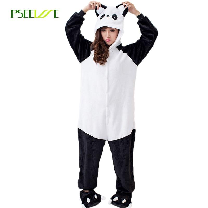 Panda   Pajama   Adult Onesie Animal   Pajamas   one piece Winter Cotton   Pajama     Sets   Woman Onesies for Adults Women panda sleepwear