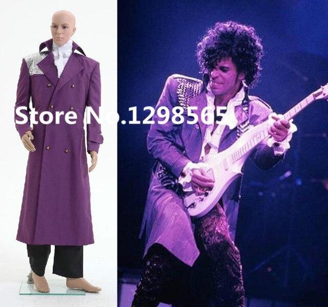 Personnalisée film chanson Violet Pluie Prince Rogers Nelson Vêtements  Manteau Chemise Pantalon Tenues Adulte Cosplay Costume
