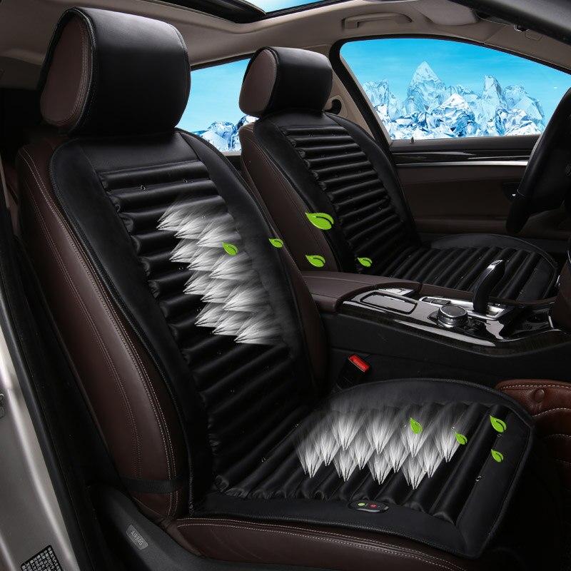Intelligent Luxe 12 V Zomer Auto Zitkussen Luchtkussen Met Ventilator Zitkussen Autostoel Cooling Vest Koele Zomer Ventilatie Kussen Laatste Mode