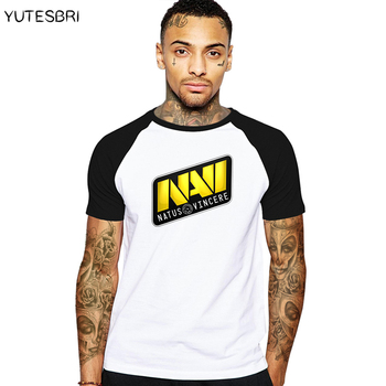 New fashion men t-shirt dota 2 clothes Natus Vincere Team logo geek T shirt summer cotton drake brand clothing