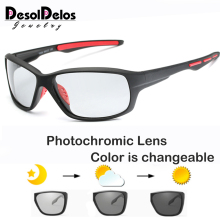 2019 Brand Photochromic Sunglasses Men Polarized Chameleon D