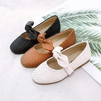 Niño Mary Janes | 2019 Otoño Nuevo Bebé Niñas Arco Zapatos Niños Marca Zapatos Niños Pu Cuero Pisos Niño Princesa Zapatos Moda Negro María Jane