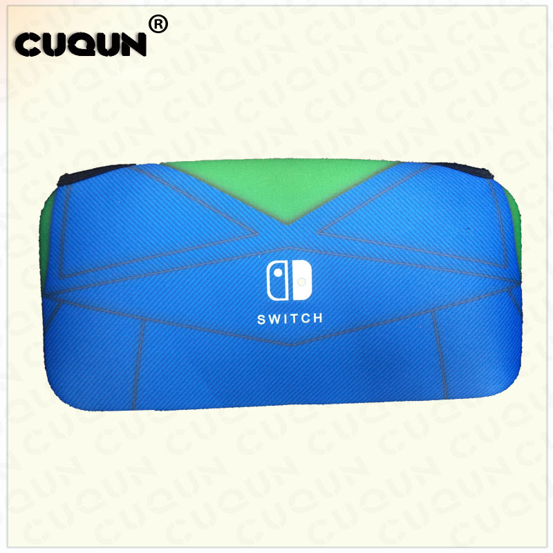 Купить с кэшбэком 2018 NEW Style MarioRed LouisGreen Soft Bag For Nintend Switch NS Switch Game Console Box Bag Portable Storage Bag