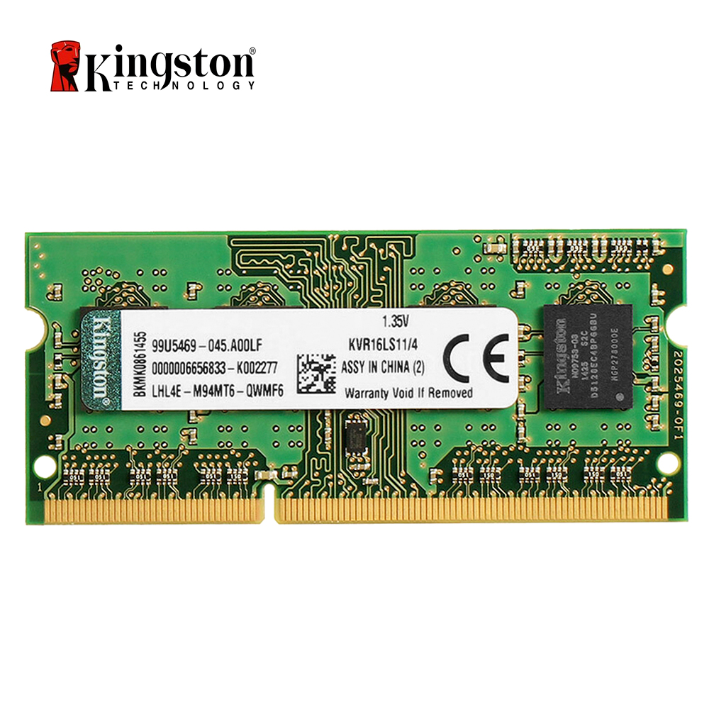 Kingston 4GB DDR3 Laptop RAM (1600MHz - Low Voltage - KVR16LS11/4)