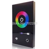 1PCS Touch Panel Controller Dimmer Wall Switch Ring 12 24V 12A for RGB LED Strip