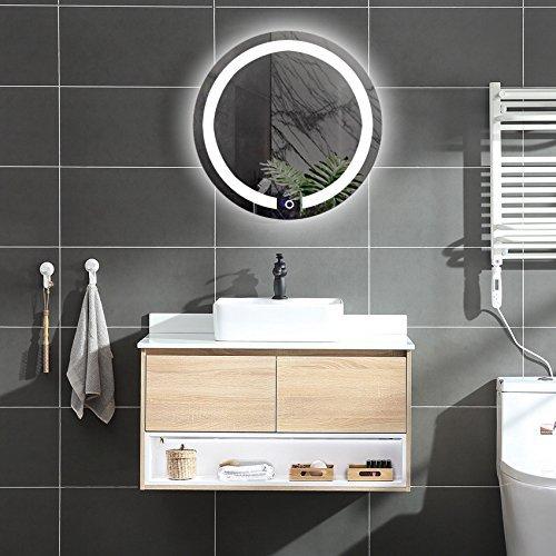Diyhd D 23 6 Wall Mount Round Led Lighted Bathroom Mirror Vanity