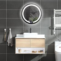 DIYHD D:23.6 Wall Mount Round Led Lighted Bathroom Mirror Vanity Defogger Lights Touch Light Mirror (Dia:23.6)