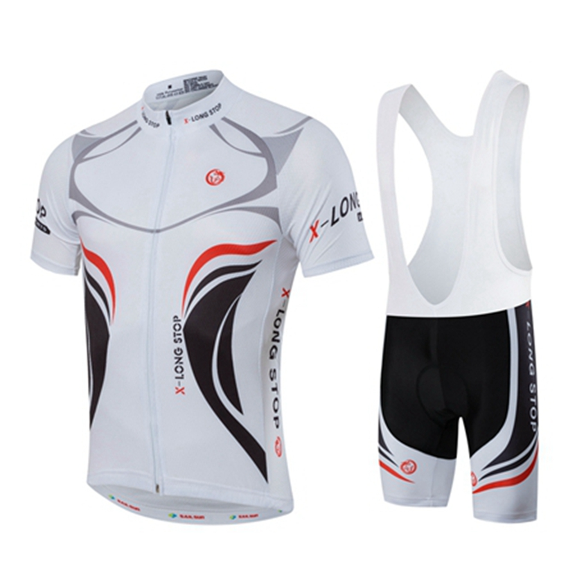 White Men MTB Cycling Clothing Summer bike Jersey Bib Shorts Male Outdoor Sports Pro team ropa Bicycle Top Maillot Ciclismo veobike 2018 pro team summer big cycling set mtb bike clothing racing bicycle clothes maillot ropa ciclismo cycling jersey sets