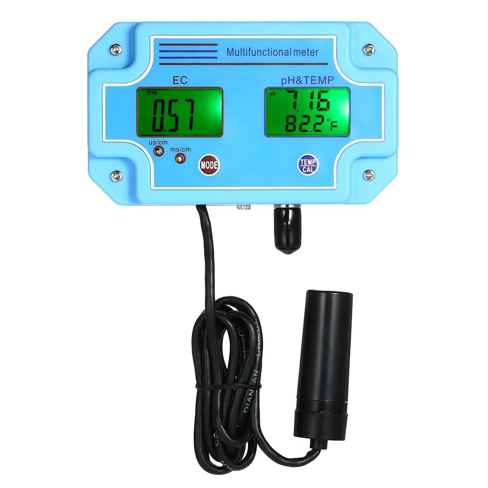 Digital LCD Water tester Professional 3 in 1 pH EC TEMP Meter Multifunction for swimming pool