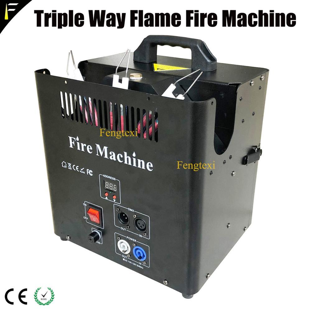nova e poderosa forma tripla chama estagio atirador de fogo maquina de efeito especial cabeca 2