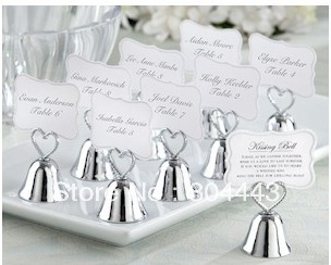 Wedding Gift Card Value : /lot Kissing Bell Place Card Holder+Lowest price wedding favor gift ...