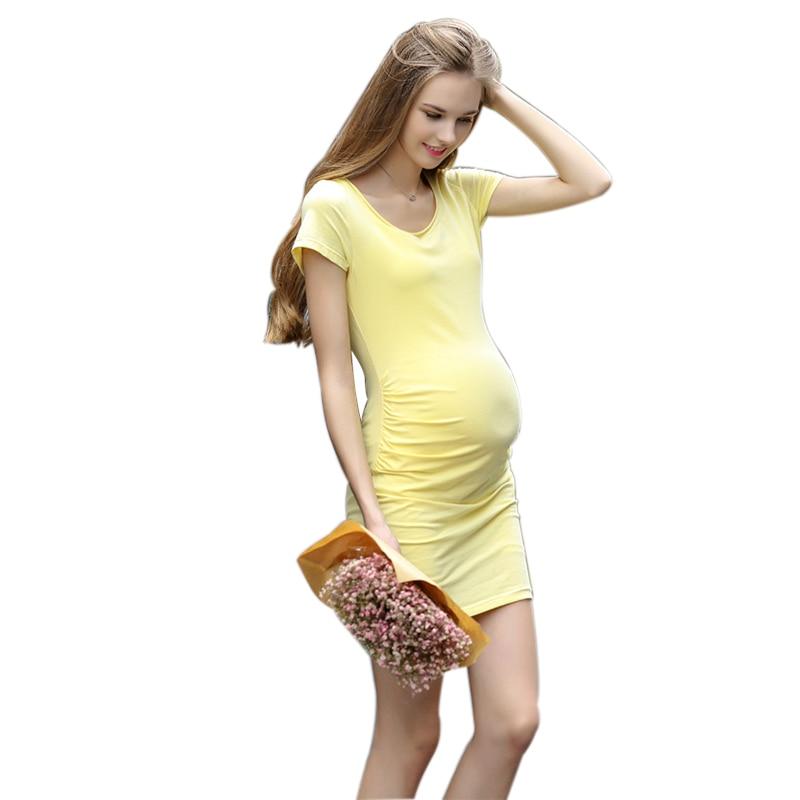2016 Նոր ծննդատուն պատահական զգեստներ հղի կանանց համար գումարած չափ XL ամառային կանայք հագնվում են հղիության նորաձևության հագուստի վեստիդոներով