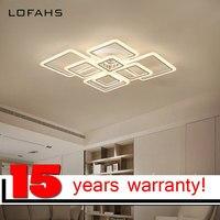 LOFAHS Moderne acrylique LED plafond lumière Qui Se Chevauchent cadres grand de luxe plafond lampe pour salon salle à manger chambre lustre avize