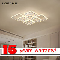 LOFAHS Modern Acrylic LED Ceiling Light Overlapping Frames Large Luxury Ceiling Lamp For Living Dining Bed