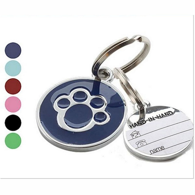 1 PC Bella Pet Pendente di Carta Decorativa Anti-Lost Pet Gatto Del Cane di Nome