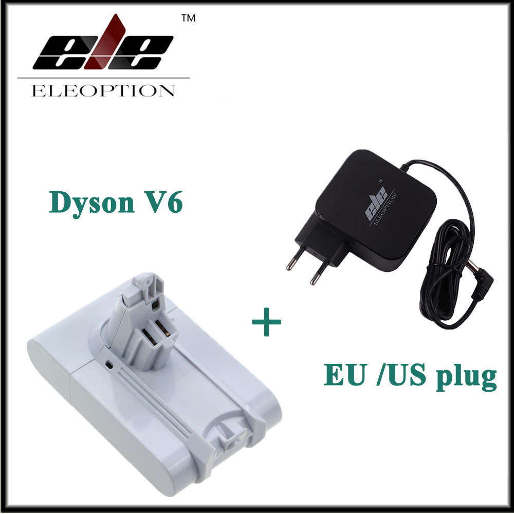 21.6V 3000mAh Li-ion Battery For Dyson V6 Mattress Cordless Handheld Vacuum Cleaner For Dyson DC58 DC59 With Charger eleoption 21 6v 3000mah li ion replacement battery for dyson v6 mattress cordless handheld vacuum cleaner for dyson dc58 dc59