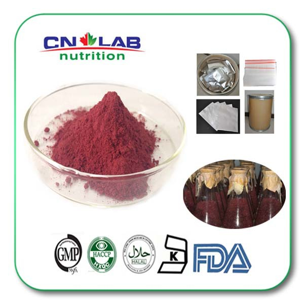 100% Nature Red Yeast Rice extract powder with High Quality 500g
