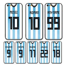 European Football Argentina National Team Jersey style Messi Roman Custom Names and Numbers case for iPhone 6 PLUS Phones cases