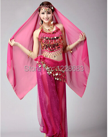 c0b8618863f3 Bollywood Dance Costumes Indian Belly Dance Costumes 2 Pieces Pants And Top  Bra Set For Women