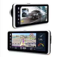 GUBANG 6,5 1080 P HD автомобилей DVR заднего вида gps навигации с картой Европы WI FI FM видео Регистраторы камера комплект