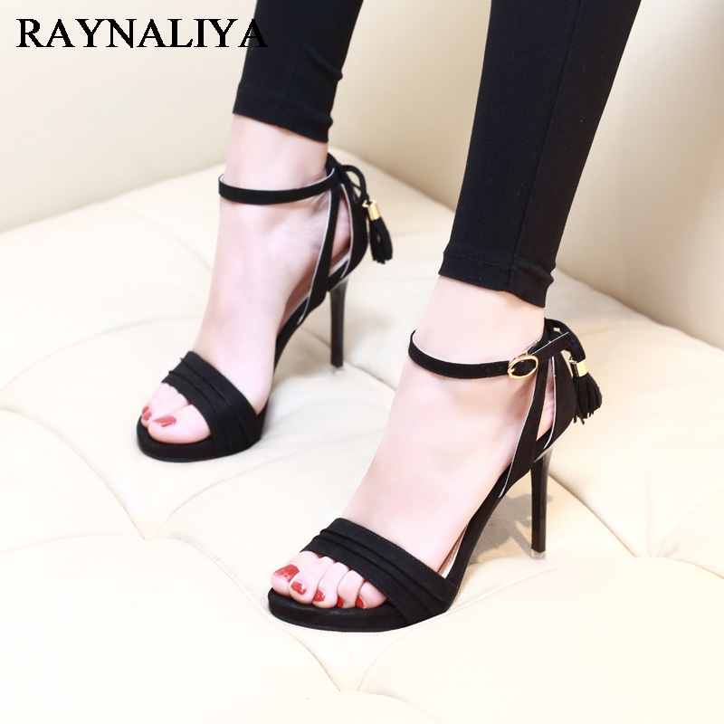 2018 Summer Sexy High Heels 9 Cm Thin Heel Girl Shoes For Woman Fashion Buckle Strap Sandals Party Shoes Women CH-A0053 цены онлайн