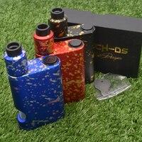 528 Custom goon Driptech DS 528 BF box kit 2*18650 batteries in parallel Aluminum 2*10ml Vaporizer Mod e cigarette KIT goon v1.5