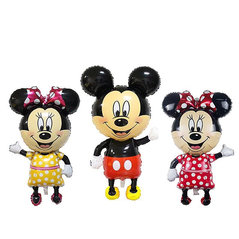 110cm Giant Mickey Minnie Inflatable Toys Cartoon Foil Birthday Party Balloon Airwalker Balloons for Kids Baby Toys