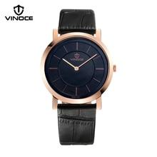 relogio masculino VINOCE Mens Watches Top Brand Luxury Fashion Business Quartz Watch Men Sport Leather Waterproof Wristwatch
