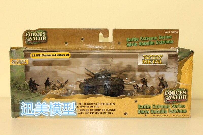 FOV 95324 1/72 échelle militaire modèle jouets U. S. M4A1 Sherman et soldats mis en métal moulé sous pression modèle de réservoir jouet pour Collection/cadeau