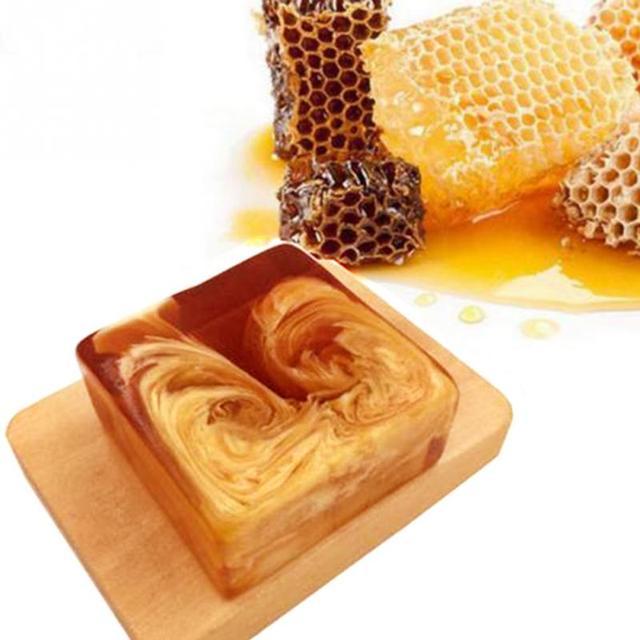 Natural Handmade Honey Soap Propolis Honey Milk Soap Face Care Replenishing Whitening Skin Beauty Bleaching Deep Cleansing Soap 2