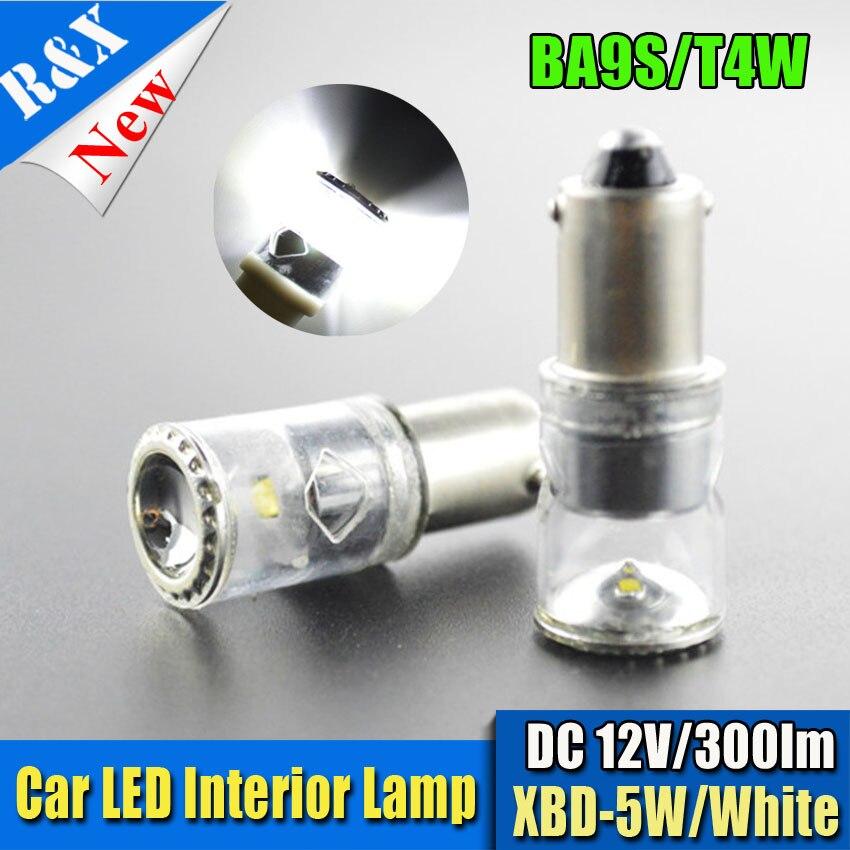 2шт/лот 5W светодиодная Т4W ba9s Сид обломок Сид bridgelux светодиодные лампы Ширина боковой свет парковка Лампа 12В 6000K белый свет