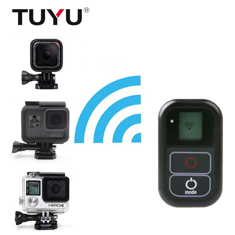 TUYU 0.8 Inch Waterproof Wireless Wifi Remote Control for Gopro Hero 5 6 4 3+/3 with USB Charger Cable Remote Go pro Accessory