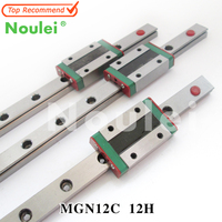 3D Print Parts CNC Kossel Mini MGN12 Miniature Linear Guide Slide Rail + 3pcs MGN12H MGN12C Carriage Block 300mm 350mm 400mm 450
